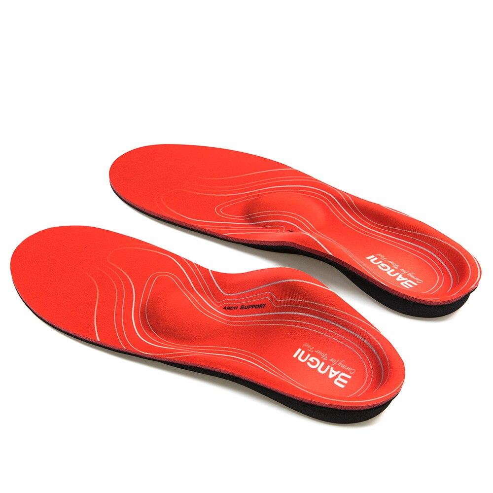 3 plantillas de pies planos de ANGNI plantillas de soporte de arco ortopédico plantillas de zapatos ortopédicas dolor de talón fascitis Plantar hombres Mujer
