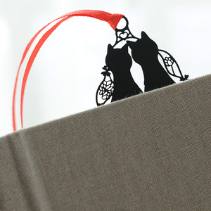 Image 2 - 24 قطعة/الوحدة الكرتون الأسود القط المعادن الإشارات المرجعية للكتب دفتر تبويب كتاب علامة القرطاسية اللوازم المدرسية marcador دي لايف