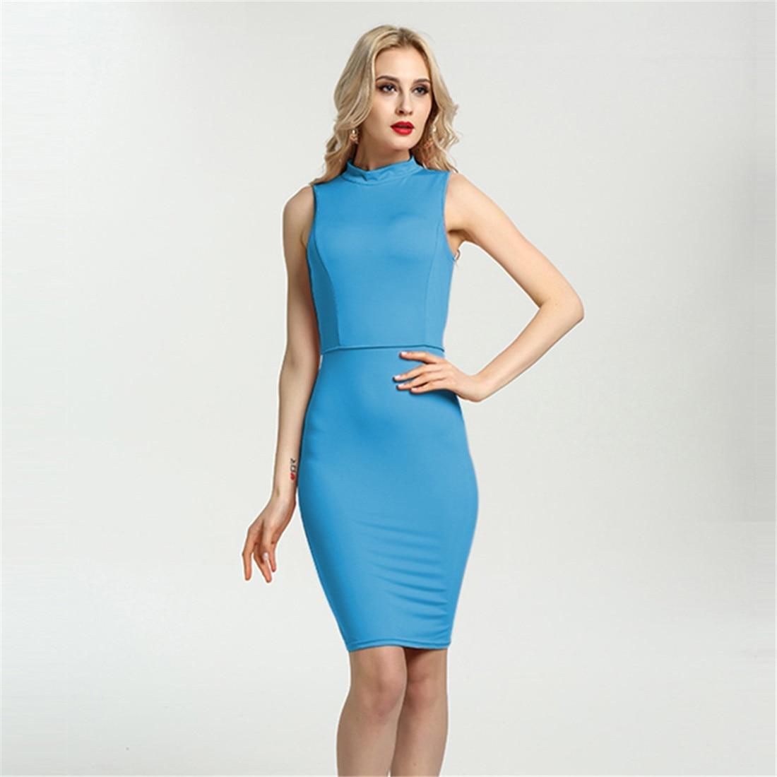 Aliexpress.com : Buy Plus Size Vintage Office Dress Women Sleeveless ...