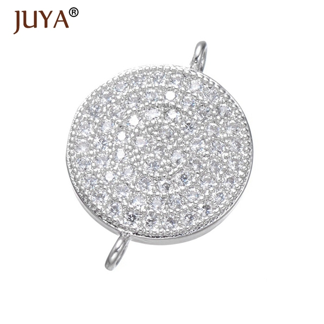 Jewelry Making Supplies Copper Inlay Cubic Zirconia Rhinestone Connectors  For Jewelry Making DIY Bracelet Accessories Findings 0376843ba460