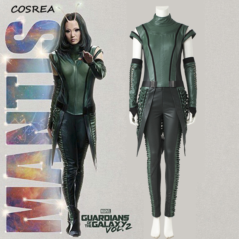 Guardians of the Galaxy 2 Movie Mantis Superhero Lorelei Green Cosplay Costumes Adult Women Halloween Carnival Party Customize