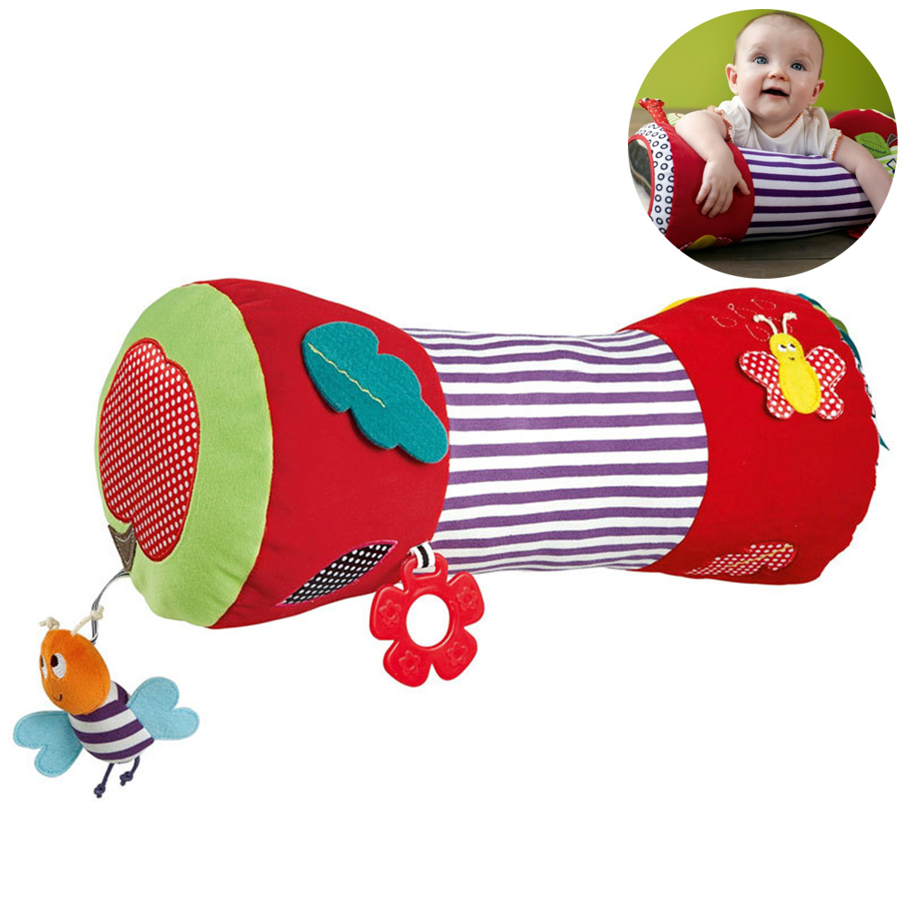 New Born Baby Multifunction  Crawling Roller Toy Baby Soft Plush Learning Walking Fitness Soft Plush Educational Toys
