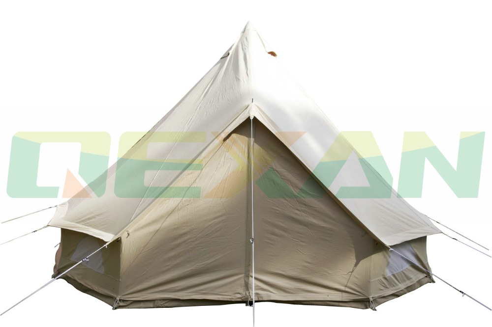 Free Shipping ! Waterproof 4M bell tent cotton yurt tent canvas tipi tent in Stock On sale hot sale eco friendly tent for kids cotton canvas toys tent