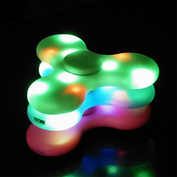2017 New Hand Spinner Bluetooth Speaker LED Light Tri Spinner Fidget Anti Stress Speakers Built In