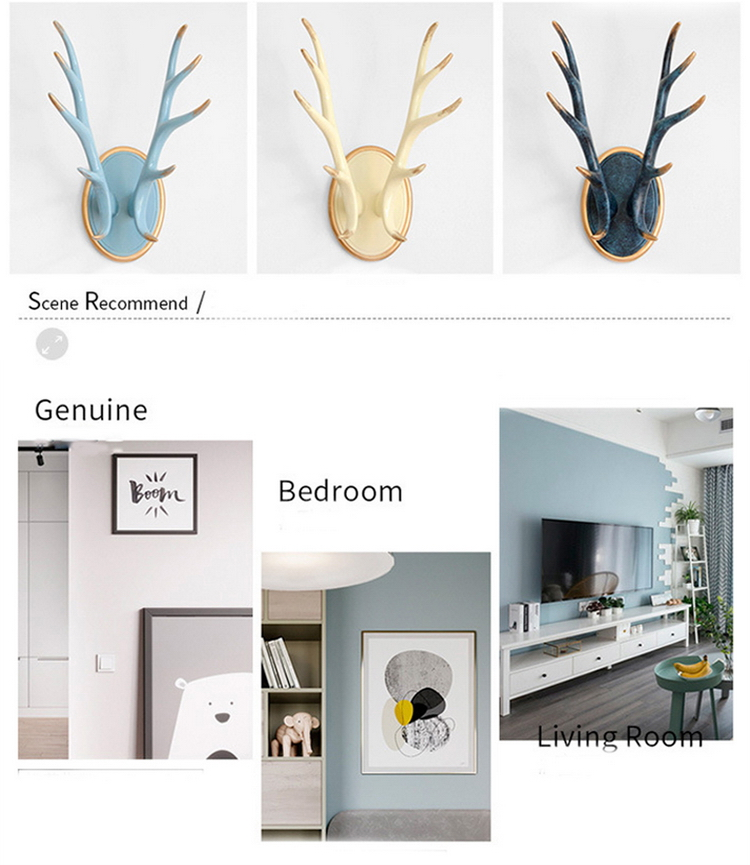 Modern-Home-Decor-Deer-Horn-Statue-Coat-Hanger-Wall-Decoration-Accessories-Sculpture-Ornament-Wedding-Room-Figurine-Decorations (2)