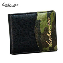 Camouflage Genuine Leather Wallet Men Luxury Brand Wallets with Coin Zipper Card Holders Long Purses Casual Carteira Masculina