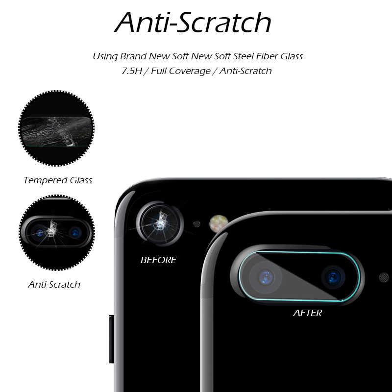 Para Apple iPhone7 iPhone 7 Plus 7 Plus/6 s/6 cámara trasera vidrio templado Protector de enfoque trasera Anti arañazos círculo funda protectora película