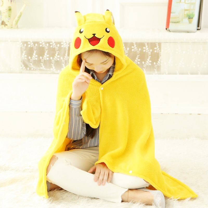 150 Cm Pikachu Dinosaur Cape Lazy Blanket, Cartoon Kumamon Stitch Plush Toy Blanket, Cosplay Cloak Blanket, Birthday Gift