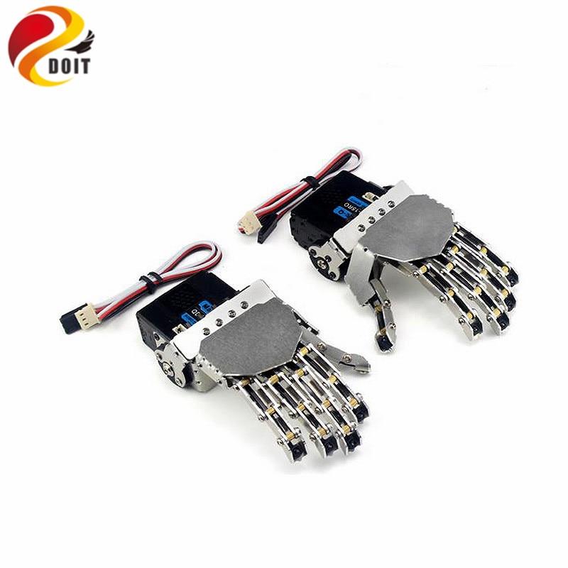 DOIT Robot Hand five Fingers/Metal Manipulator Arm/Mini Bionic Hand/Humanoid Robot Arm/gripper/car Accessories/left/right/DIY RC
