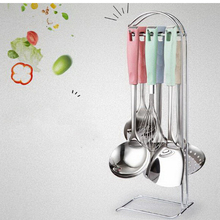210207/Comfortable grip/Cookware Sets/Kitchen utensils set/Stainless steel spatula set /thickening long handle/