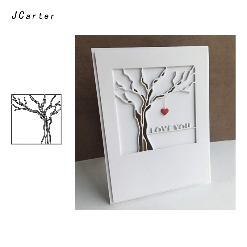 JCarter Dry Trunk Tree Metal Cutting Dies Stencils for Scrapbooking DIY Embossing Folder Paper Cards Maker Handmade Album Crafts in Cutting Dies from Home Garden