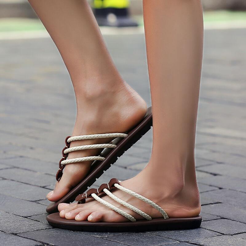 Marca 1 2 Los Nx0209 Diseñador Verano Flops Hombres Pu Sandalias Flip De Moda Zapatos Famoso La Playa 2017 Cuero 3 Casuales nHUSw1xIqF
