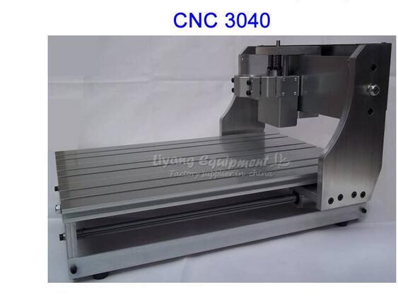 Free tax & ship from CN!!! DIY CNC Frame cnc 3040 with ball screw, cnc engraving machine no tax ship from factory diy cnc frame for 3020z with ball screw optical axis and bearings also have 3040 6040 6090 frame kit