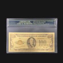 Цветная американская золотая банкнота 1928 долларов США, поддельные деньги, драгоценный подарок для украшения дома, деловая коллекция