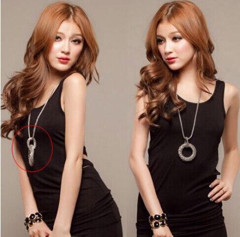Fashion Kalung Panjang untuk Wanita Big Circle Emas / Perak Warna - Perhiasan fashion - Foto 6
