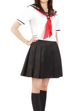 Envío Libre Hell Girl Enma Ai Cosplay Disfraces de Halloween Uniforme Escolar
