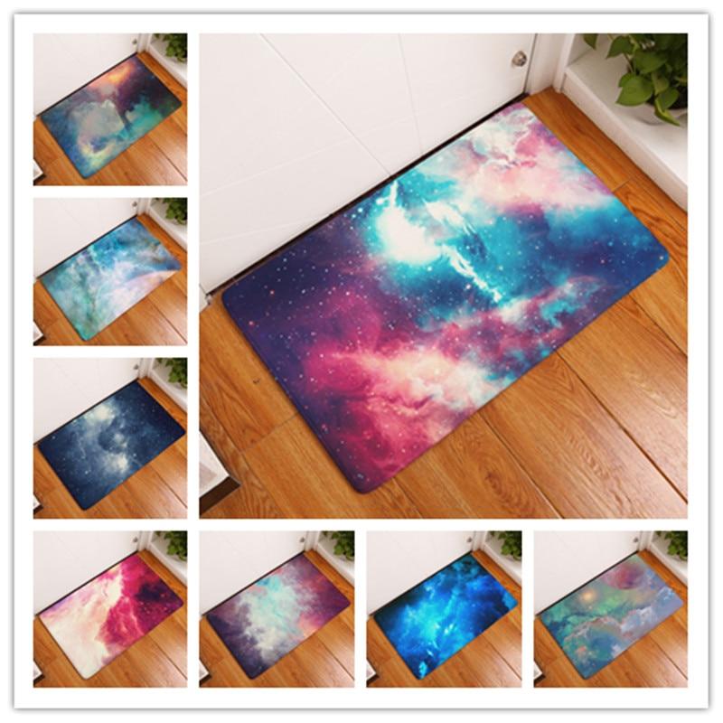 2017 Jaunie durvju paklāji Fantāzijas galaktika Modernie drēbju paklāji Grīdas virtuves vannas istabas paklāji 40X60or50x80cm