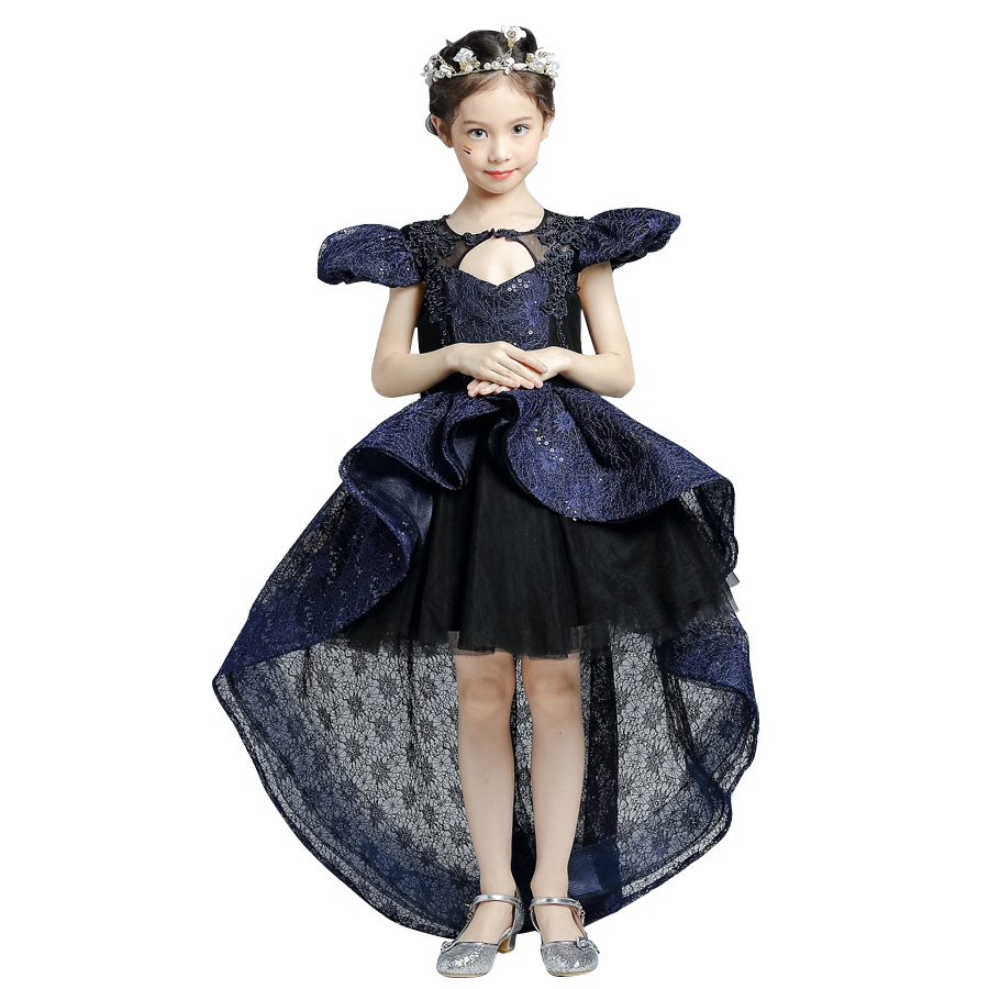 Girl Kids baby Black Dress Halloween Cosplay Costume Little Witch Vampire Pirate costume Princess Queen clothes Ball Gown dress слингобусы itzy ritzy pebble little black dress pebneck1000