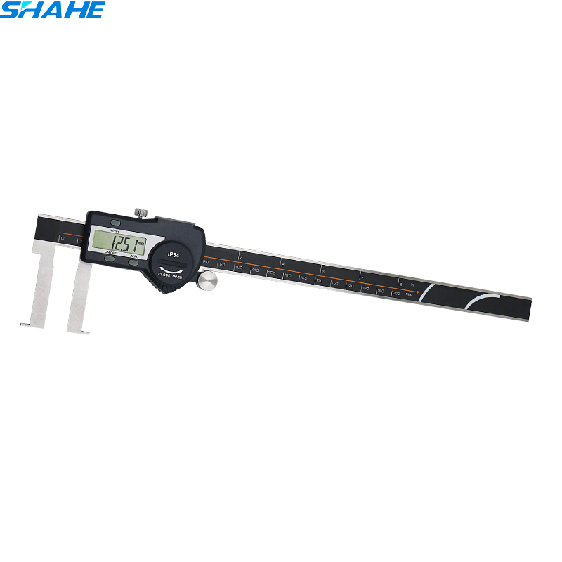 25-200 mm electronic inside groove digital caliper Measurement Instruments Measure Tools digital diai gem caliper measures from 0 12 7 mm 0 5 by 0 01 mm 0 0005 goldsmith tool caliper jewelry measurement tools