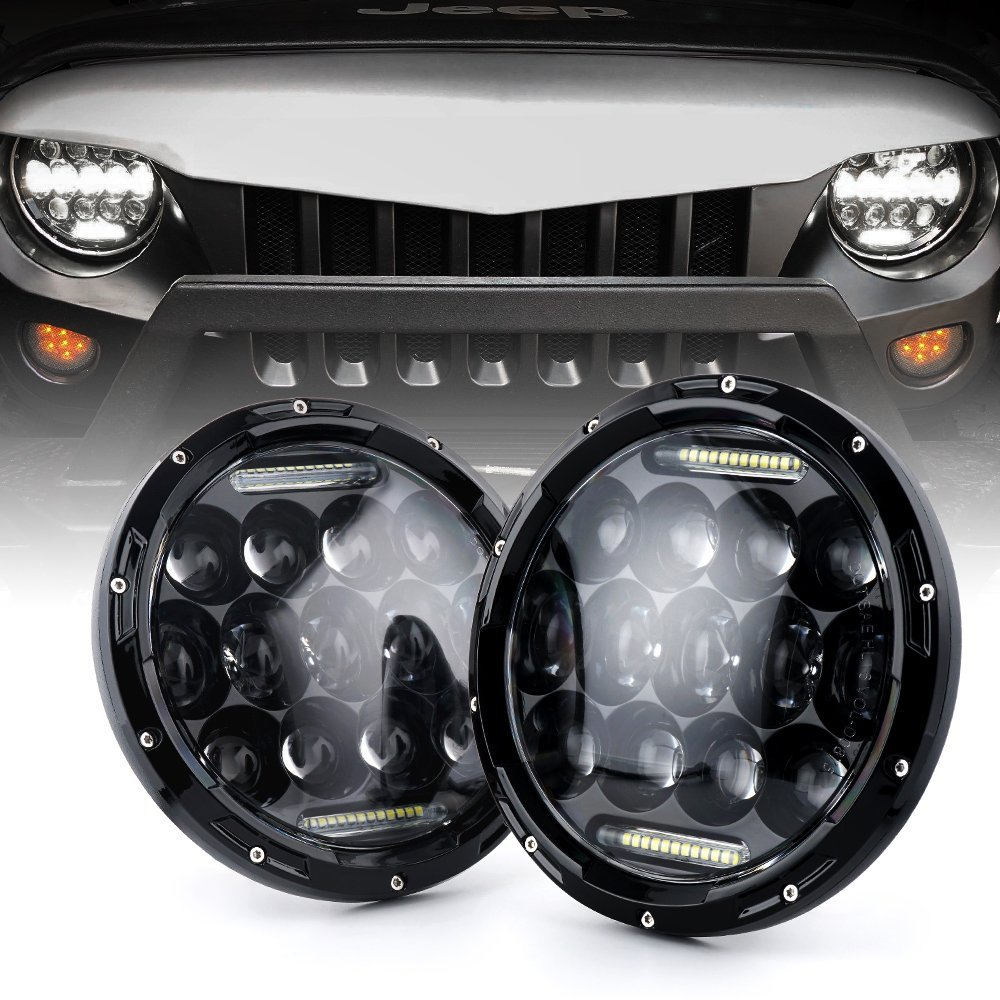 7 Round LED Headlights White DRL / Amber Turn signal For Hummer H1 H2 H3 LED Projector DRL 7 inch Headlamp Lada niva 4x4 rastar 28500 hummer h2 page 7
