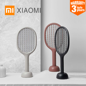XIAOMI MIJIA Electric mosquito swatter P1 USB rechargeable mosquito killer lamp 2200V Handheld fly killer racket home products(China)
