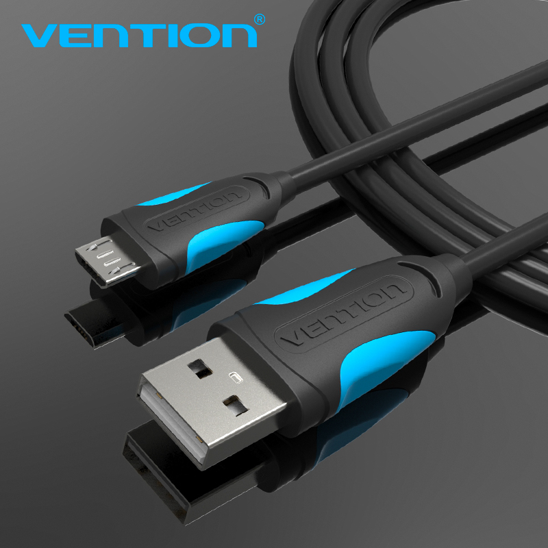 Vention Micro USB Cable Fast Charging Wire for Android Mobile Phone Data Sync Charger Cable 1M 2M 3M For Samsung HTC Xiaomi Sony