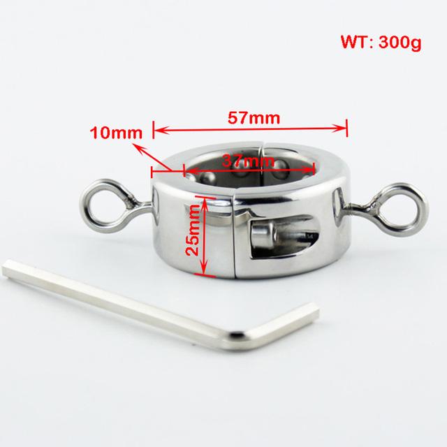 Aço inoxidável escroto anel de Metal bloqueio galo anel bola macas para homens escroto maca Bondage dispositivo produtos do sexo