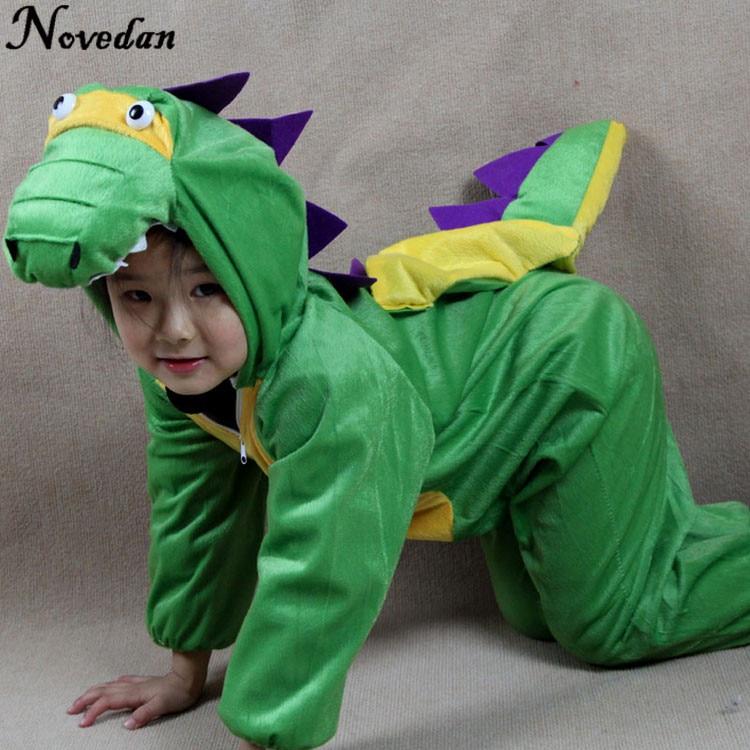 Children's Onesie Kids Baby Dinosaur Costume Cosplay Clothing Halloween Animals Costumes Jumpsuit For Boy Girl
