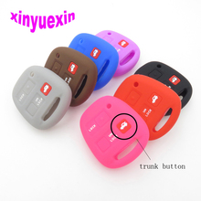 Xinyuexin Silicone Car Key Cover Case For Toyota  Lexus 3 Buttons Remote Jacket Fob Car-Styling No Logo