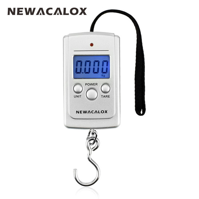 Mini portable digital fishing scale lcd display weighting electronic hook travel luggage 40kg 88lb