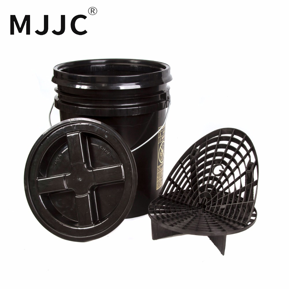 MJJC Brand with High Quality Detailing Kit 5 gallon bucket Grit Guard Wash Board and Gamma