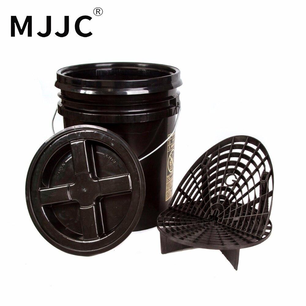 MJJC Marque avec Haute Qualité Detailing Kit 5 gallon seau, Grit Guard, Planche à laver et Gamma joint couvercle