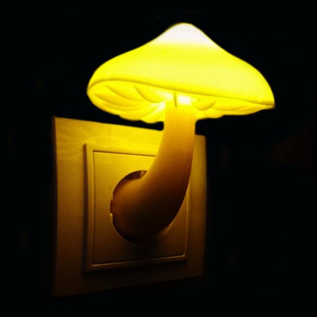 Cute Mushroom Wall Socket Light
