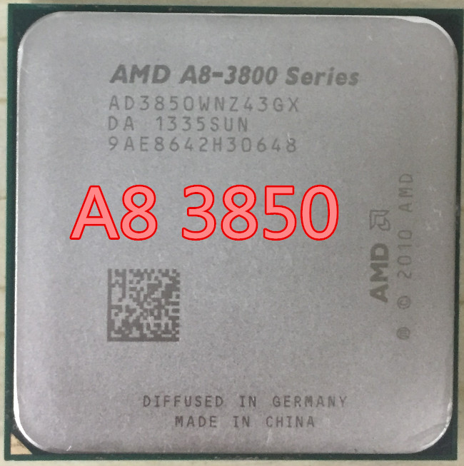 AMD A8 3850 A8-3850 Quad-Core FM1 2.9GHz 4MB 100W CPU processor pieces A8-3850 APU Integrated graphics free shipping