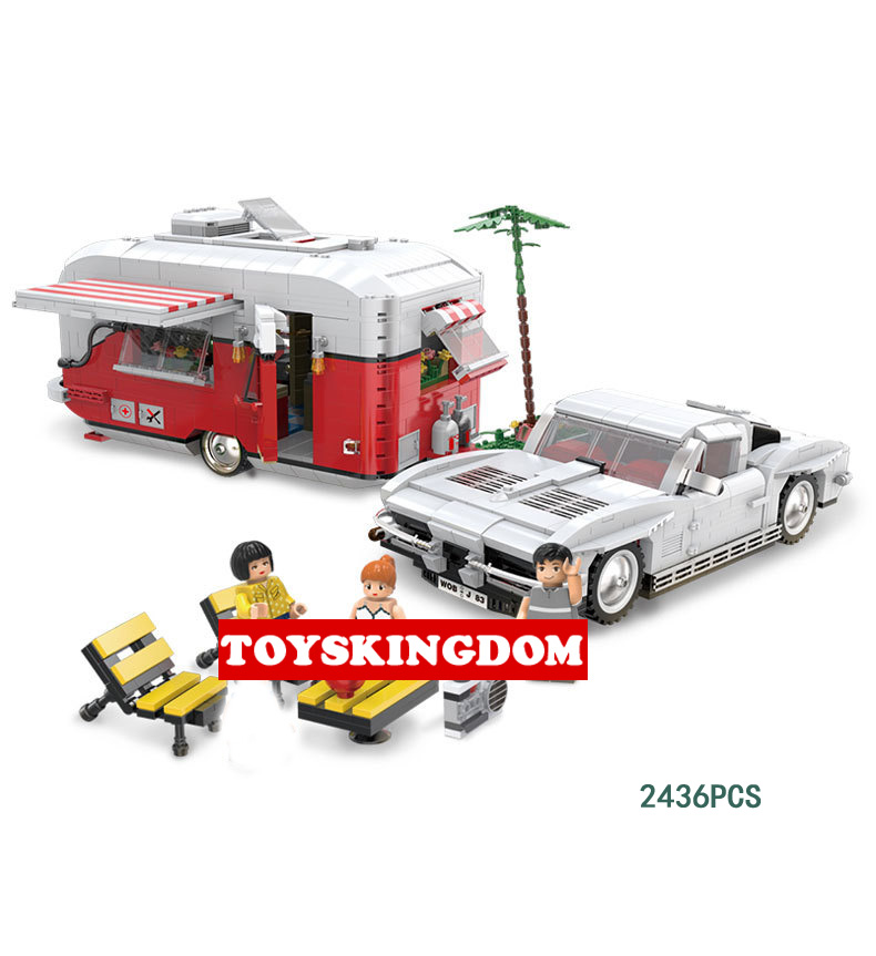 Funny dream-car super Recreational Vehicle moc building block Motorhome model bricks toys collection for adult and kids gifts