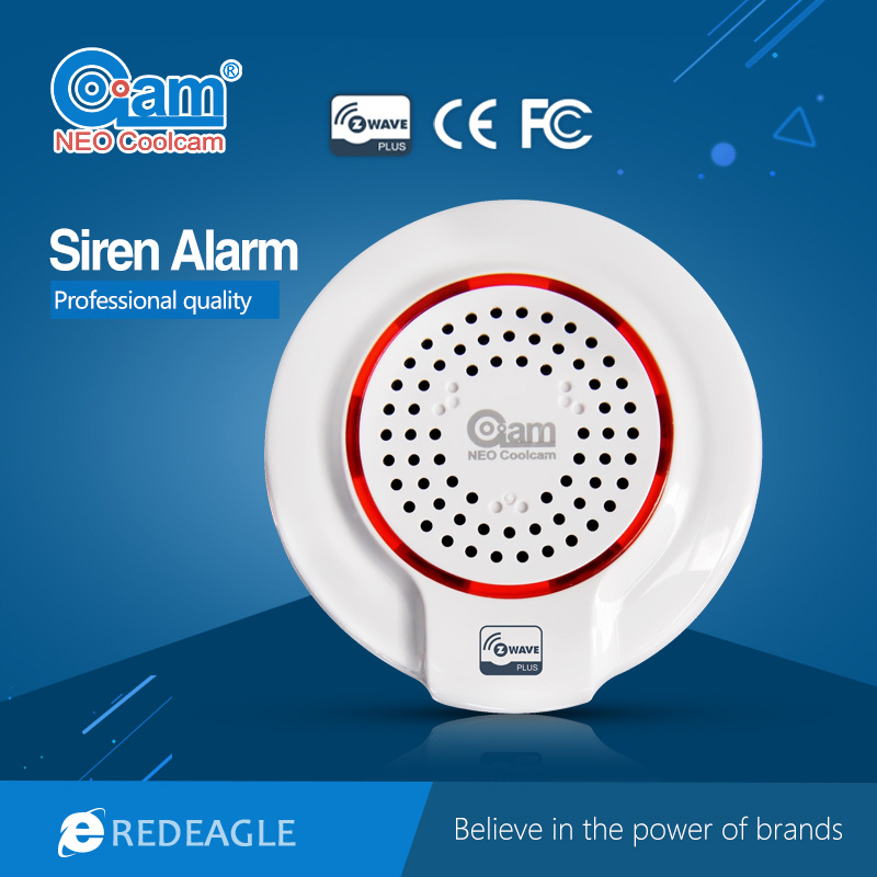 Z-wave Wireless Siren Alarm Sensor Compatible with Z wave Plus Sensor Building Automation Alarm Smart House Security System цена