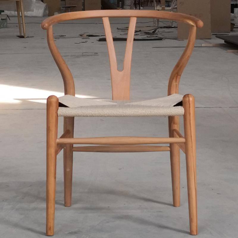 Nordic style dining chair New Chinese casual solid wood Y chair Western restaurant coffee shop back armchair - Цвет: style 1