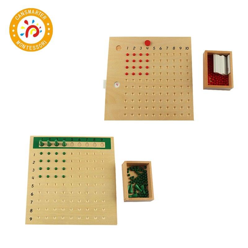 Enfants maths jouets en bois apprentissage Multiplication conseil Puzzles cerveau Teaser Montessori éducation enseignement aides pour enfants MA047
