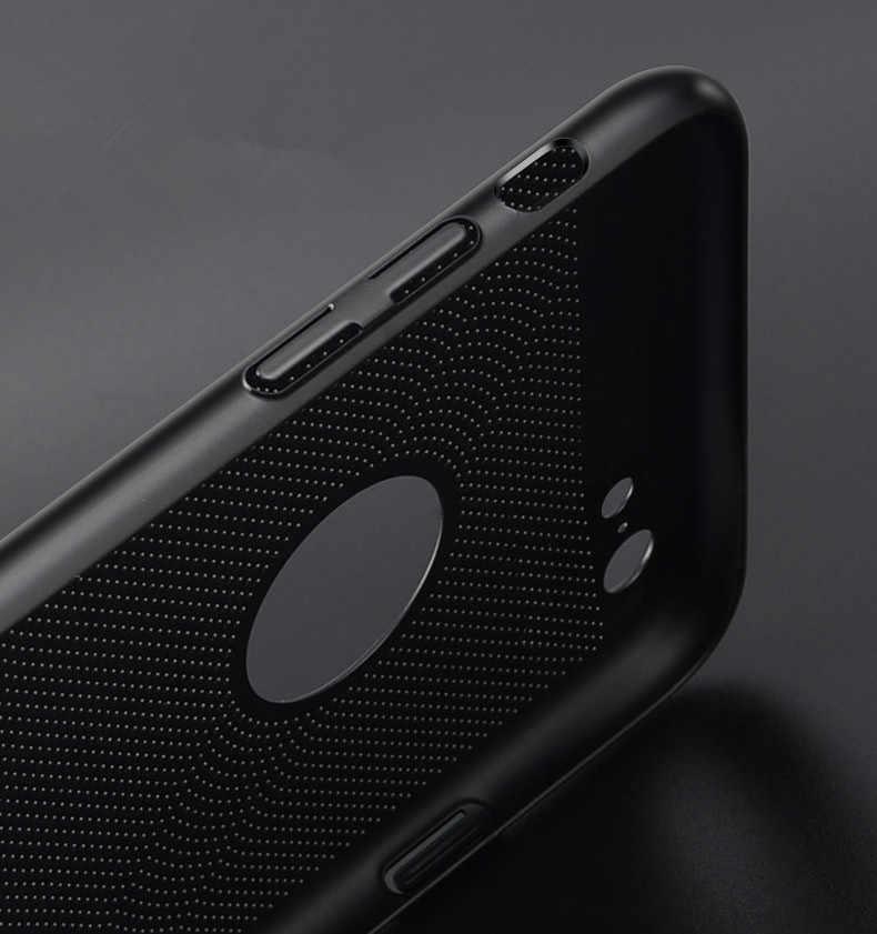 Ultra Sottile Cassa Del Telefono per Il Iphone 6 6 S 7 8 Più Scava Dissipazione di Calore Cassa Dura Del Pc per Il Iphone 5 S Se 11 Pro Copertura Coque X S Max