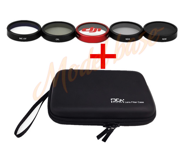 Professional Advanced storage bag+ND4 +ND8+MCUV+CPL+Protective glasses For DJI Phantom 3 /4 Camera Lens Filter pgy dji phantom 4 3 professional accessories lens filter 6pcs bag nd4 nd8 mcuv cpl cover gimbal camera quadcopter drone part