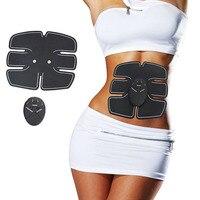 Беспроводной стимулятор мышц EMS Стимуляция тела косметический аппарат для похудения брюшной мышцы тренажер тренировочный устройство масс...