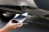 2pcs Exterior Car Styling Stainless Steel Silver Rear Exhaust End Pipe Outlet Cover For Land Rover