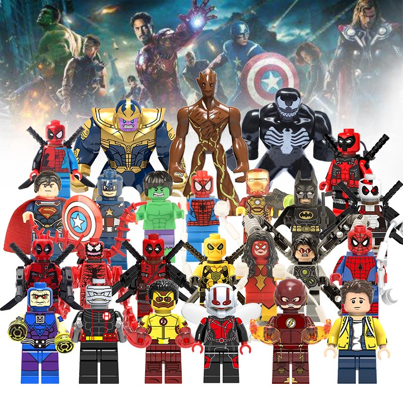 Avengers 3 Infinity War Ant-Man Action Figure Venom Deadpool Thanos Hulk Building Blocks Compatible with LegoINGlys Marvel Toys ant man ant man yellow jacket 6 5cm mini figure with acrylic base action figure toys
