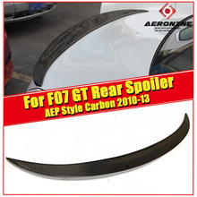 F07 GT Rear Spoiler Wing Carbon Fiber P style Fits For BMW 5 Series 535iGT 550iGT wing Rear Spoiler Extension cap 2010-2013
