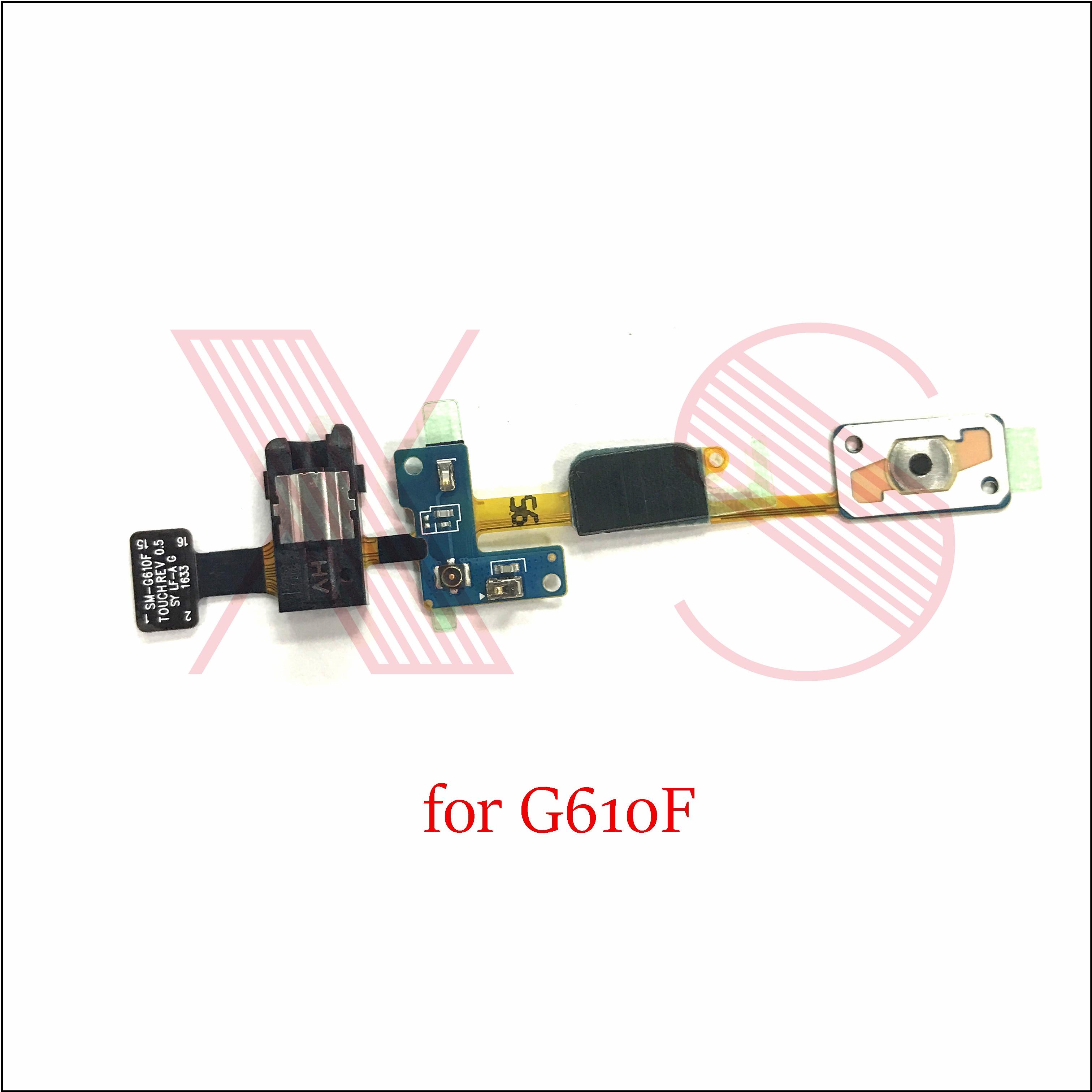 50x For Samsung Galaxy J7 Prime G610F Home Button Key Return Light Sensor Menu Keyborad Headphone Audio Jack Flex Cable Flat