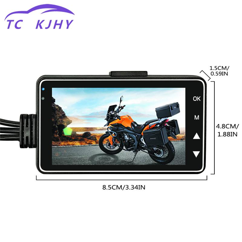 Motor Dash Cam Car Dvr Motorcycle Camera Dvr With Dual-track Front Rear Recorder Motorbike Electronics Car-styling display motorcycle front back dual camera dvr motor dash cam with specialized dual track front rear recorder motorbike