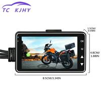 Motor Dash Cam Car Dvr Motorcycle Camera Dvr With Dual track Front Rear Recorder Motorbike Electronics Car styling display
