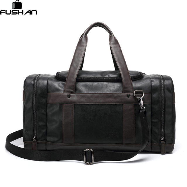 Aliexpress.com : Buy Brand Leather Travel Bags With Side Pockets ...