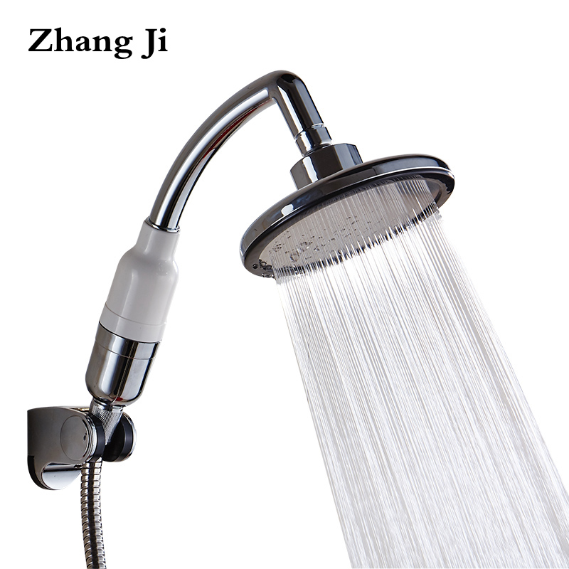Zhang Ji Multi-Fuctional Handheld Shower Head 145mm Big Panel High Pressure Sprinkler Boost Waterfall Filter Purify Showerhead