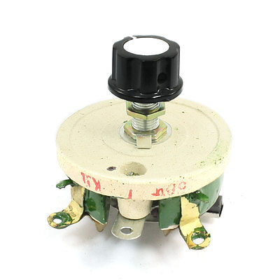 50W 1K Ohm Ceramic Wirewound Potentiometer Volume Control Disk Rheostat 150w 5 ohm ceramic potentiometer variable linear pot resistor rheostat